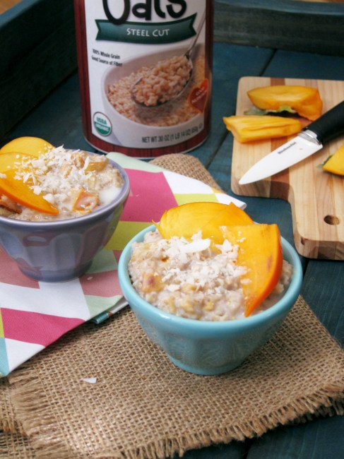 Coconut Persimmon Oatmeal (2)