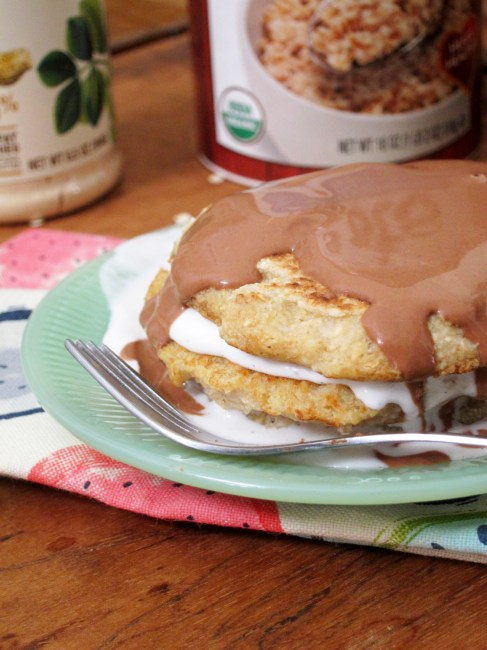 Boston Cream Pie Oatcakes by Oatmeal Artist