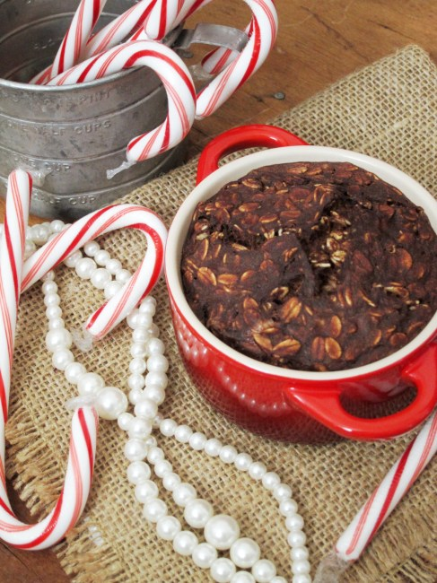 Peppermint Brownie Baked Oatmeal by Oatmeal Artist