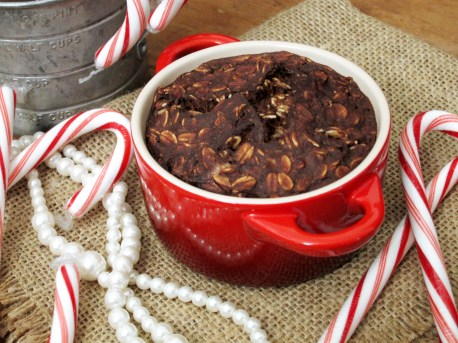 Peppermint Brownie Baked Oatmeal by The Oatmeal Artist