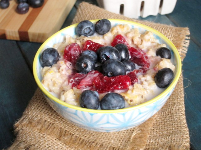 Blood Orange and Berry Oatmeal by the Oatmeal Artist #vegan