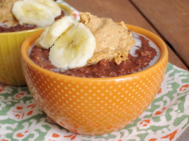 Fudgy Banana Steel-Cut Oatmeal with Peanut Butter 004