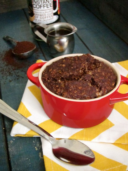 Mocha Baked Oatmeal with Almond Butter Center by The Oatmeal Artist