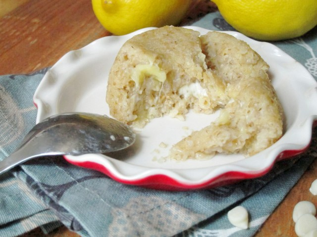 Lemon White Chocolate Lava Baked Oatmeal by The Oatmeal Artist