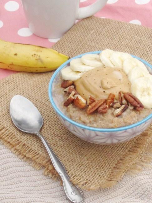 Spiced Banana Oatmeal with Java PB2 by The Oatmeal Artist #vegan