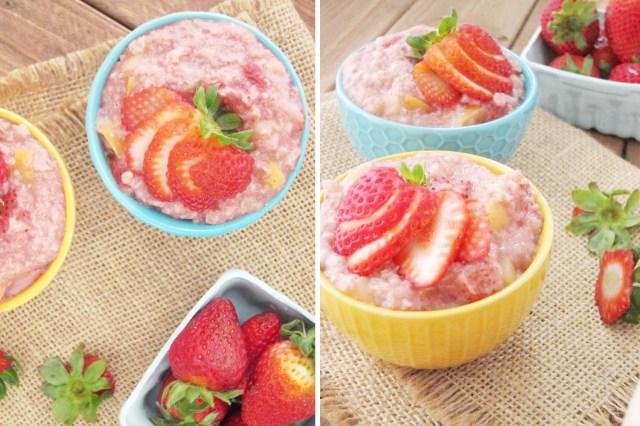 Strawberry Applesauce Oatmeal #oatmealartist