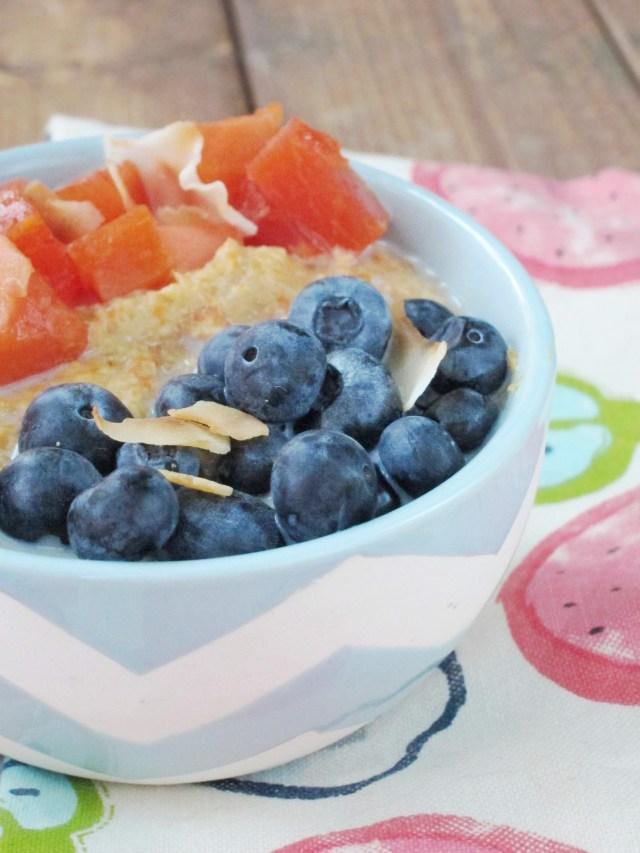Papaya Blueberry Oatmeal by The Oatmeal Artist #vegan