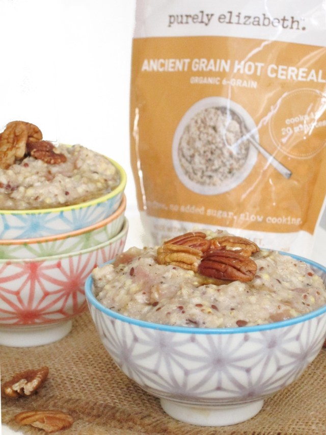 Purely Elizabeth Ancient Grains Oatmeal as Applesauce Oatmeal #vegan