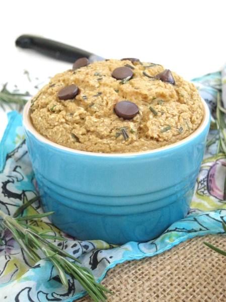 Rosemary Chocolate Chip Baked Oatmeal #oatmealartist #vegan