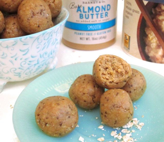 Apricot Almond Butter Bites by the #OatmealArtist