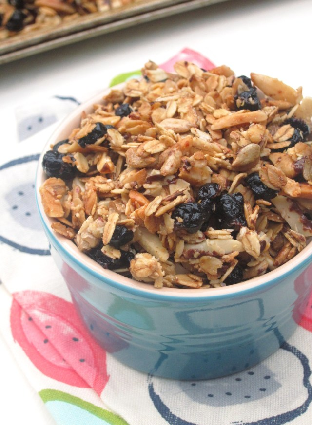 Choco-Blueberry Almond Granola by the Oatmeal Artist