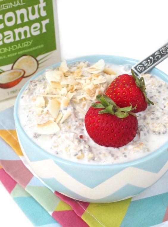 Coconut Lychee Overnight Oatmeal by the #OatmealArtist