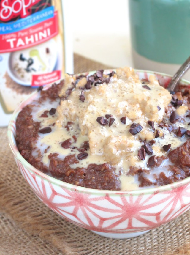 salted-tahini-fudge-oatmeal-oatmealartist-vegan