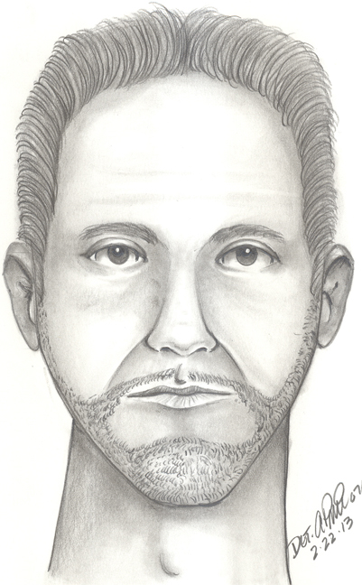 Photo courtesy Lyndhurst Police Dept. Police composite of suspected shooter.