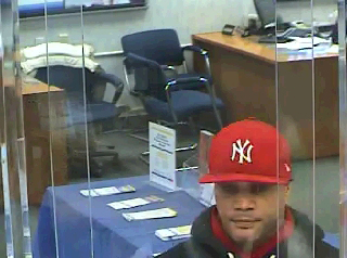 Photo courtesy Belleville P.D. A bank video captured an image of the man suspected of robbing the Valley National Bank in Belleville on Feb. 23.