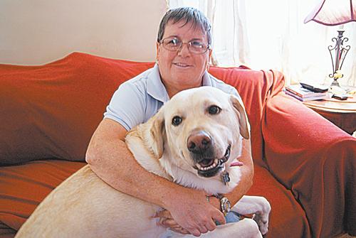 Photos by Diane Tilley & Karen Zautyk Coby with his human Diane Tilley