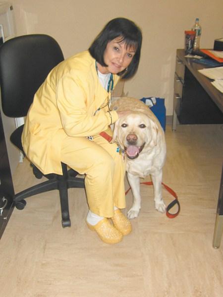 Photos by Diane Tilley & Karen Zautyk Coby with Clara Maass nurse Carolyn Giordano