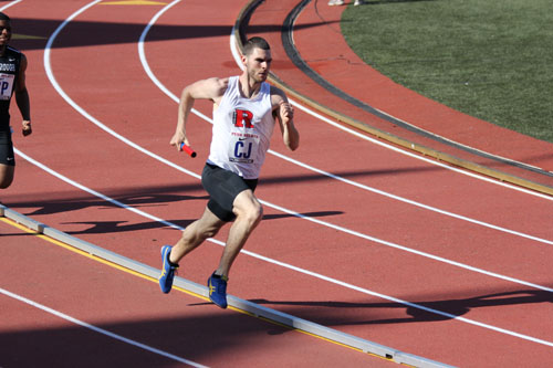 Photo courtesy of Rutgers-Newark sports information Kearny native Chris Happel has been tearing up the track for the Rutgers- Newark track team.