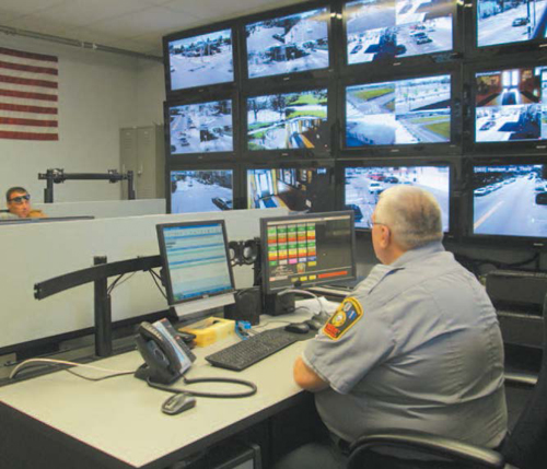 Photo by Ron Leir New Harrison police communications center