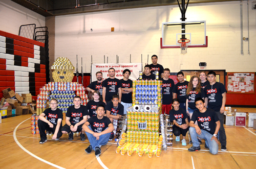 Photos by Shannon Stoia and Peter Lemos KHS 'Canstructors' with Bob the Builder and his truck Scoop