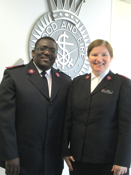 Photo by Ron Leir Maurice and Sherry Moukouangala, the new leaders of the Salvation Army Kearny Corps.