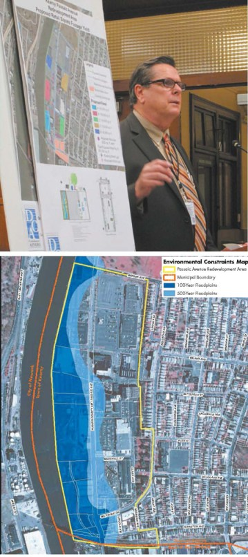 Avenue Redevelopment Area Town of Kearny, Hudson County New Jersey Environmental Constraints Map Passaic Avenue Redevelopment Area Municipal Boundary 100-Year Floodplains 500-Year Floodplains November 2007 Photo by Ron Leir, map courtesy Town of Kearny TOP: State planner Robert Tessier assesses Passaic Ave. Redevelopment Plan. BOTTOM: Yellow border denotes redevelopment area bordering Passaic River.