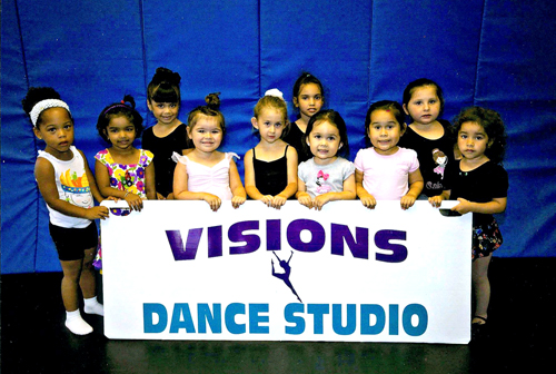 Children as young as 18-months-old are welcome at Visions Dance Studio, 202 Midland Ave., Kearny. Visions professional staff offers customary classes in ballet, tap, jazz, lyrical, gymnastics for toddlers, pre-k and tiny tots.