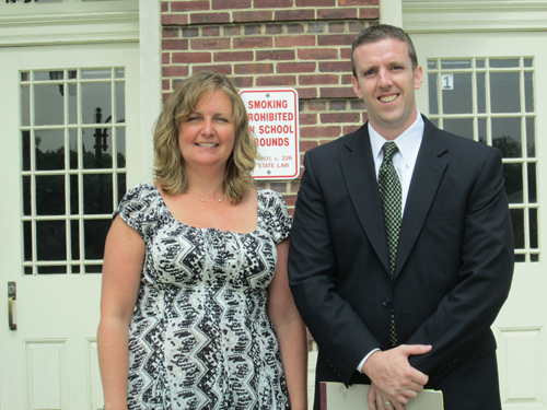 Photo by Ron Leir Walker Middle School Principal Tracy Egan and Vice Principal Michael Sullivan.