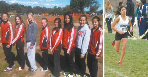 LEFT: The Kearny girls' cross country team captured the Hudson County Championship last week, the program's fi rst since 2009. RIGHT: Senior Erika Alzamora, shown here at the NJSIAA state sectionals a year ago, fi nished second at the Hudson County Track Coaches Association meet last week.