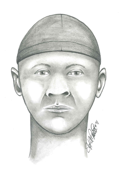 Composite courtesy Lyndhurst PD Police released this sketch of one of the suspects being sought in a Lyndhurst kidnapping/robbery.