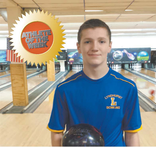 Photo courtesy Rich Donohue Lyndhurst High School freshman bowler Ryan Donohue.