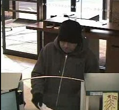 Photo courtesy KPD Kearny robbery suspect on security video
