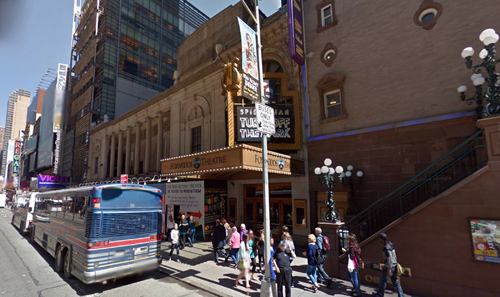 Images courtesy of Google Street View/onthetownbroadway.com The Lyric Theatre, New York City