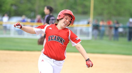 Photo courtesy Robert Rodriguez Kearny junior Caralynne Rivera is seen circling the bases after hitting the clutch home run that gave the Kardinals the Hudson County Tournament championship a year ago. Rivera has returned as one of the top all-around players in the county.