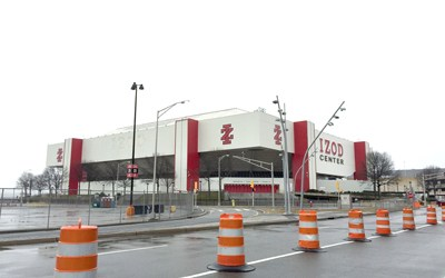 Photo by Jim Hague The Izod Center, also known as the Brendan Byrne Arena and Continental Airlines Arena as well as unofficially as the Meadowlands Arena, closed its doors for good last week.