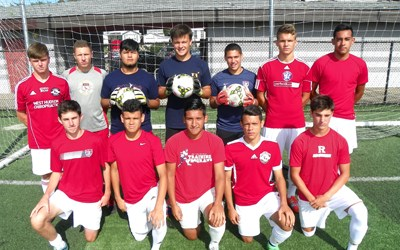 Photo by Jim Hague The Kearny boys' soccer team will look to be a force once again this season, thanks to a veteran defensive unit. Front row, from l., are Drew Munro, Kenny Santos, Anthony Mora, Leonardo Teixeira and Gerald Munro. Back row, from l., are Cord Montanino, Adrian Velazquez, Marco Alva, Cameron Grimm, Oscar Alvarado, Damian Kolodziej and Joao Fernandes.