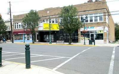 Photo by Ron Leir The Lincoln Cinema property on Kearny Ave. Fate of the property is unknown.