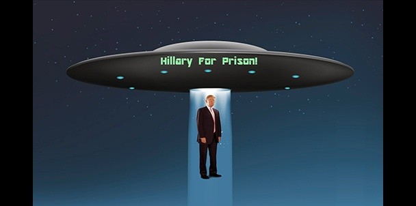 Staten Island UFO against Hillary Clinton
