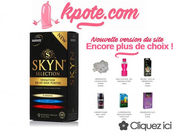 Site de vente de préservatifs moins chers: kpote.com