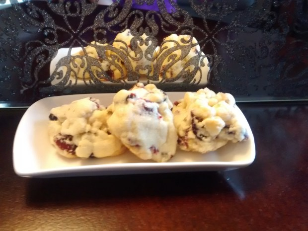 White Chocolate Cranberry Drop Cookies