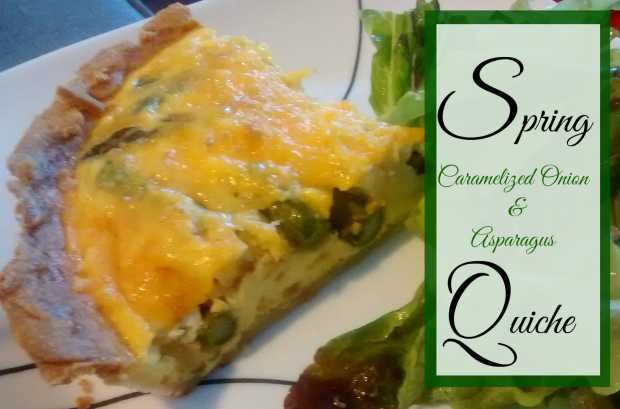 Asparagus and Caramelized Onion Quiche