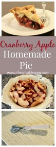 Cranberry Apple Pie Recipe- a new pie recipe for the Holidays that everyone will love! Sweet with a hint of tart, find the full recipe at theoliveblogger.com