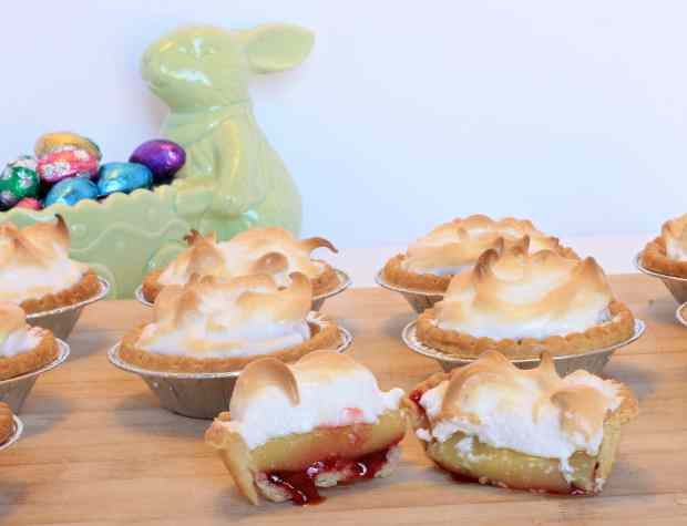 Raspberry Lemon Meringue Tarts -Easy and Quick!