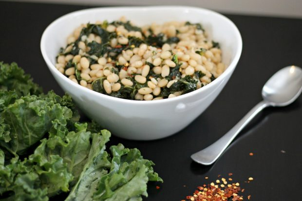 White Bean and Kale Salad – Served Warm or Cold!