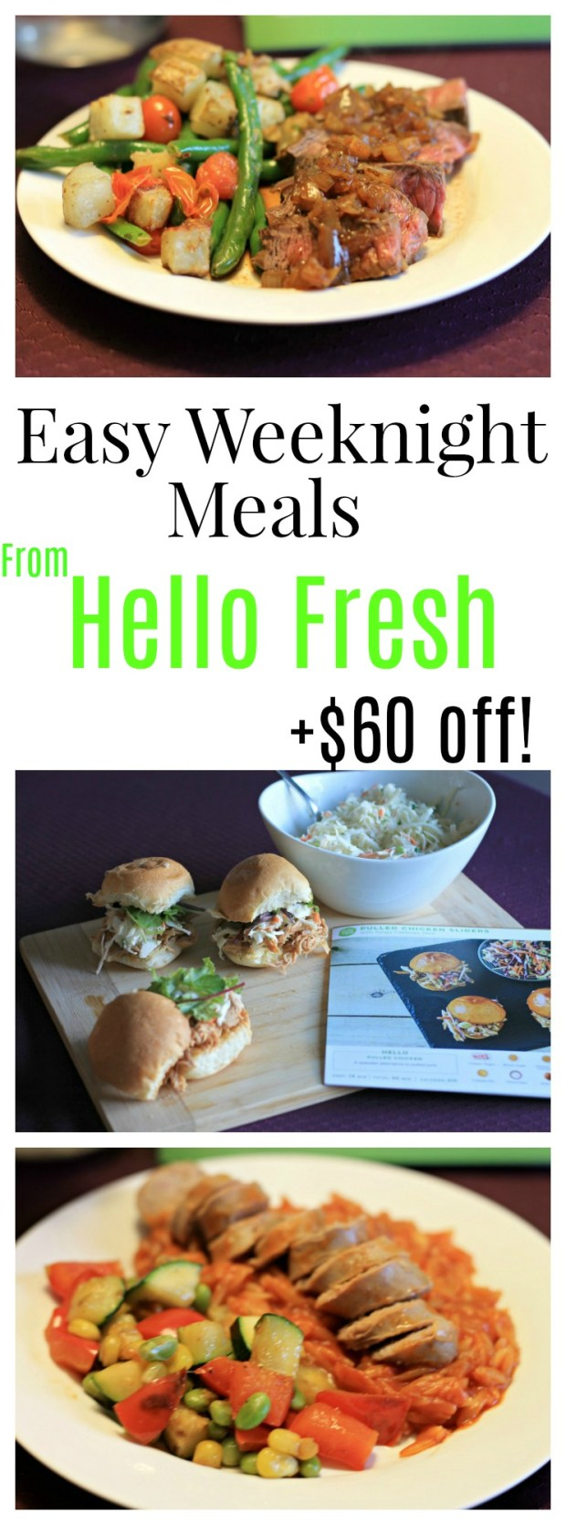 Dinnertime can be easy again! Hello Fresh provides fresh ingredients and easy meals shipped right to your door, and most meals are ready in under 30 minutes!