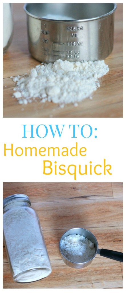 You will never need to buy a box of Bisquick again with this easy to make version! Use for biscuits, quiche, pot pies, pancakes and more!