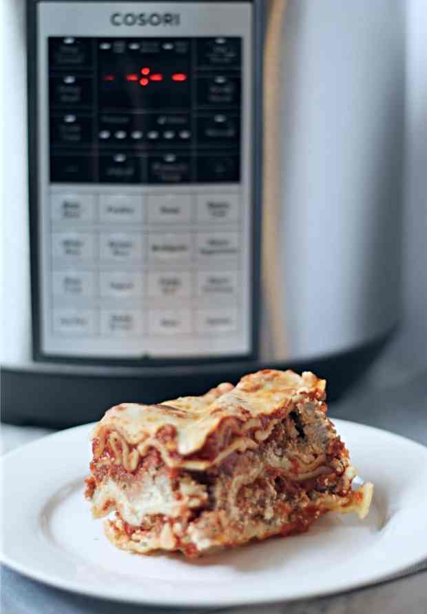 Cosori-Pressure-Cooker-Lasagna