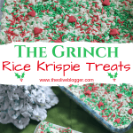 Christmas Rice Krispie Treats - Grinch Inspired