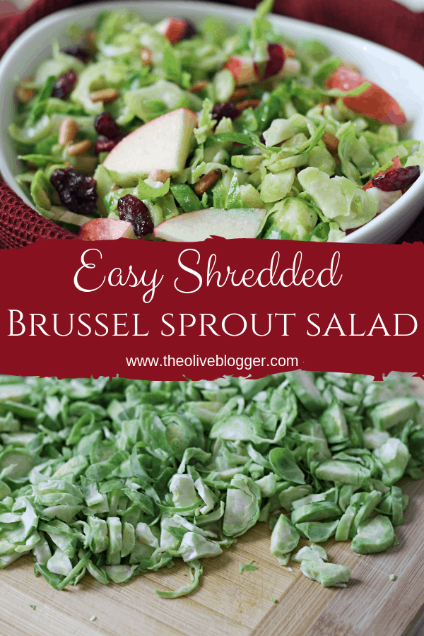 Shredded Brussel Sprout Salad with Cranberries