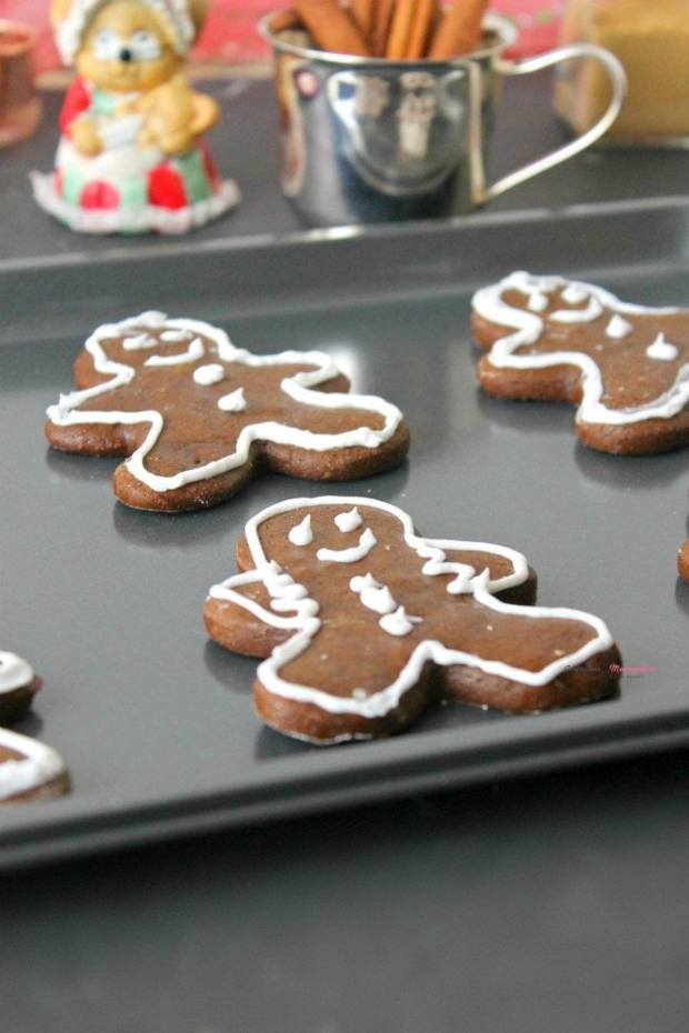 Gingerbread Man Cookies on a cookie tray